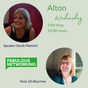 Graphic promoting Fabulous Networking Alton May 19th 2021
