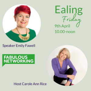 Promoting Fabulous Networking Ealing April 9th 2021