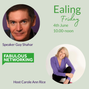 Promotion for Fabulous Networking Ealing June 4th 2021