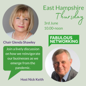Promotion for East Hampshire business networking June 3rd 2021
