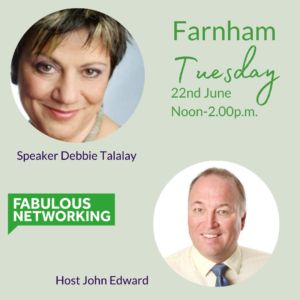 Promotion for Fabulous Networking Farnham Tuesday 22nd June 2021