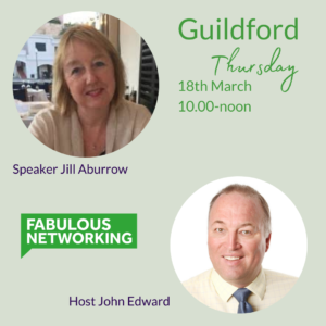 Promotional image for Fabulous Networking Guildford March 18th 2021