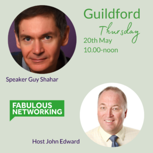 Graphic promoting Fabulous Networking Guildford