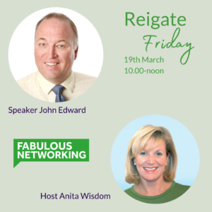 Promotion for Fabulous Networking Reigate March 17th 2021