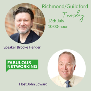 Promotion for Fabulous Networking Richmond and Guildford July 13th 2021