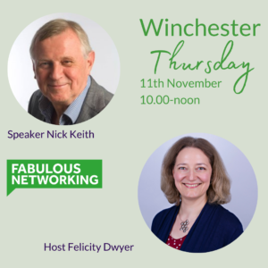 Promoting Fabulous Networking Winchester November 11th 2021